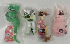 Set of 4 Burger King Toy Story Pals Woody, Buzz Lightyear, Rex, Hamm Brand NEW