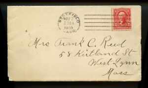 US early machine cancel Doremus dotted lines cover 1903