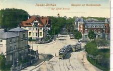 Ansichtskarte Dresden Strehlen Wasaplatz Residenzstrasse 1916 Straßenbahn