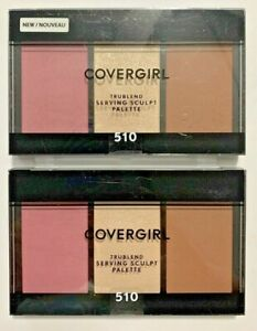 COVERGIRL Highlight Contour Blush Sculpt Palette 510 Trublend ROSE NIGHTS 2-NEW