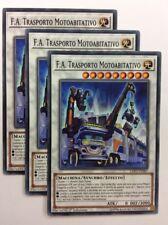 Set 3X F.A. TRASPORTO MOTOABITATIVO EXFO-IT087 Synchro Comune in Italiano YUGIOH