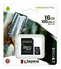 Kingston Canvas Select (SDHC/16GB) MicroSDClass 10 UHS-I Speeds Up to 100 MB/s