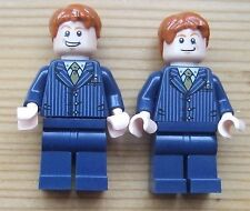 LEGO HARRY POTTER MINIFIGURES: FRED + GEORGE WEASLEY (ginger hair despite photo)