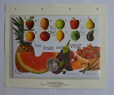 More details for fruit & veg 1998 gibraltar silver coin first day cover