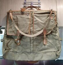 Vintage Hartmann Luggage Ballistic Nylon Belting Leather Folding Garment Bag