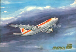 IBERIA AIRBUS A300 AIRPLANE AIRLINES POSTCARD PLANE
