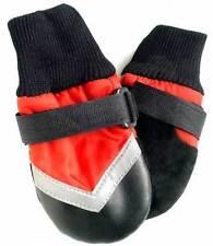 Ropa y calzado de color principal rojo para perros