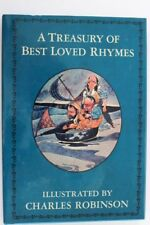 A TREASURY OF BEST LOVED RHYMES Children's Book Illustrated By Charles Robinson