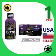 1 Pack 5 Hour Energy Extra Strength Grape 15 Count