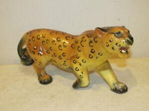 "Cheetah Figurine 12 1/2"" Long x 5 1/2"" High Very Good"