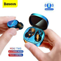 Baseus Bluetooth 5.0 Wireless Mini Earphones Earbuds Stereo Headphones Headset