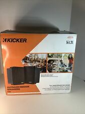 Kicker Kb6 2-Way Weatherproof Mounting Full Range Indoor Outdoor Speakers Pair