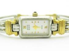 Anne Klein Acero Inoxidable Dos Tonos Rectangular Reloj con de Batería Instalado