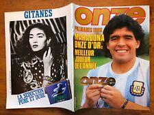 FOOTBALL ONZE #132 12/1986  DIEGO MARADONA NAPOLI ARGENTINA RIVER PLATE + POSTER