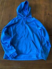 NIKE BLUE DRI FIT PULLOVER HOODIE SWEATSHIRT MENS SIZE MEDIUM