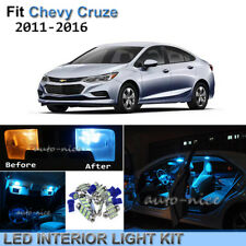 9pcs Bright Ice Blue Interior LED Lights Package Kit For 2011-2016 Chevy Cruze