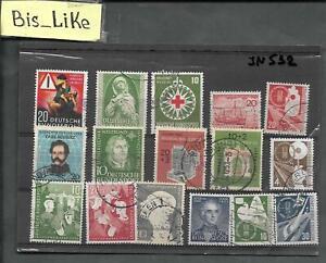 BIS_LIKE:16 stamps Germany BUND used LOT JAN03-532