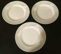 """(3) Mikasa CLASSIC FLAIR GRAY 8"""" Salad Plates"""