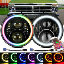 7inch Rgb Halo Led Headlights Combo For 1953 1977 Ford F 100 F 250 F 350 Pickup Fits More Than One Vehicle
