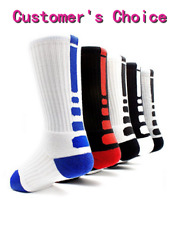 5pairs Men's Dri-Fit Cushioned Basketball Athletic Sports Compression Crew Socks