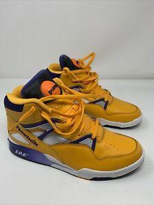 New Reebok The Pump Omni Zone ERS Retro The Lakers Gold/Violet/White sz 12 RARE