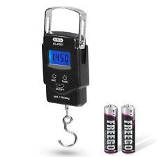 Dr.meter 110lb/50kg Balance Digital Fishing Hook Scale with Measuring Tape