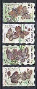 Czech Republic 2002 complete set butterflies MNG