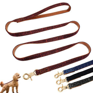 4ft Dog Walking Leash Soft Leather Pet Puppy Lead for Small Medium Dog Chihuahua