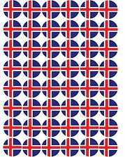 48 x Iceland / Icelandic Flags  Pre Cut Cupcake Toppers Premium Icing Sheet