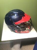 Cascade CPV Lacrosse Helmet SPR Fit Size S/M Small Medium - Red Navy Blue