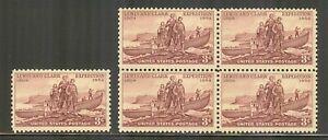 US #1063, 1954 3c Lewis & Clark Expedition - 150th Anniversary, S/B4 Unused NH