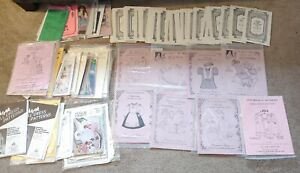 Vintage Lot of 60+ Vintage Doll Clothes Sewing Patterns Brown House many others