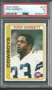 1978 Topps Tony Dorsett #315 PSA 5 Rookie Card RC Dallas Cowboys HOF