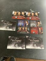 LOT OF 4 TWILIGHT ECLIPSE BURGER KING GIFT CARDS AND HOLDERS EDWARD BELLA MORE!