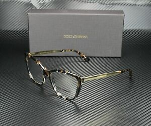 DOLCE & GABBANA DG3280 911 Cube Black Gold Demo Lens 54 mm Women's Eyeglasses