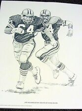 Cleveland Browns 1981 PRINT - Joe DeLamielleure Creates Runnig Room