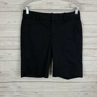 "Banana Republic Womens Martin Fit Chino Shorts Size 4 Black 10"" Inseam"