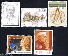 IRLANDA EIRE 5 FRANCOBOLLI ANNIVERSARI DIVERSI 1989 nuovo**