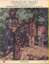 CCR / CREEDENCE CLEARWATER REVIVAL 1969 Travelin' Band SHEET MUSIC John Fogerty