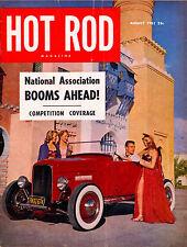 HOT ROD AUG 1951,CHOPPED 1932,1930 MERCURY SEDAN,CAVALIER,AUGUST HOTROD MAGAZINE