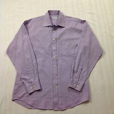 Pierre Balmain mens lilac cotton long sleeve shirt 16/41 collar