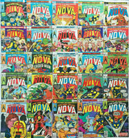 NOVA#1-25 FN/VF LOT 1976 FULL RUN MARVEL BRONZE AGE COMICS