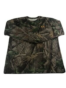 Realtree Under Armour Long Sleeve Shirt Size M Mens Camo