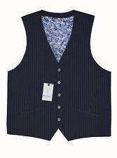 ROBERT GRAHAM Papi Pinstripe Cotton Vest Sz.42R in Navy NWT $298