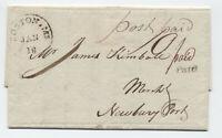 1801 Boston MA stampless EKU of circular marking to Newburyport [45.19]