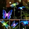 Butterfly Dragonfly Solar Power LED Light Outdoor Garden Lawn Lamp Decor