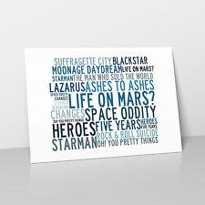 David Bowie - Art Studio A2 Lyrics Poster - Anthology - Crystalline