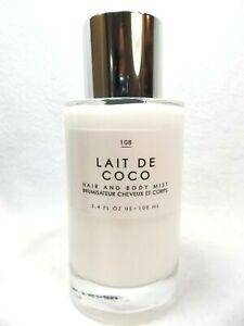 Urban Outfitters Lait de Coco Gourmand Fragrance Hair & Body Mist Perfume Spray
