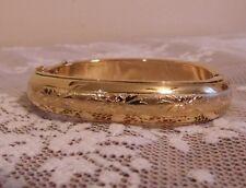 Vintage Napier Gold Tone Bangle Bracelet Repousse 1950's New Old Stock