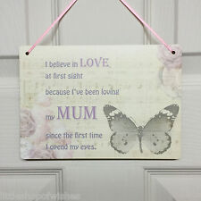 Gifts for Mum Love at First Sight Gift Present Chic Sign Plaque Butterfly Love